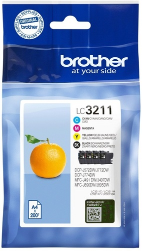 Brother LC3211VAL, TPA schwarz, cyan, magenta, yellow, Value Pack
