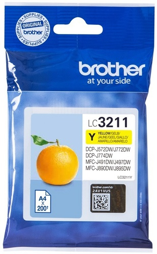 Brother LC3211Y, TPA yellow, 200 Seiten