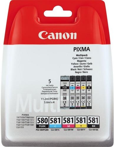 Canon PGI-580/CLI-581 Multipack, TPA schwarz, cyan, magenta, yellow, fotoschwarz