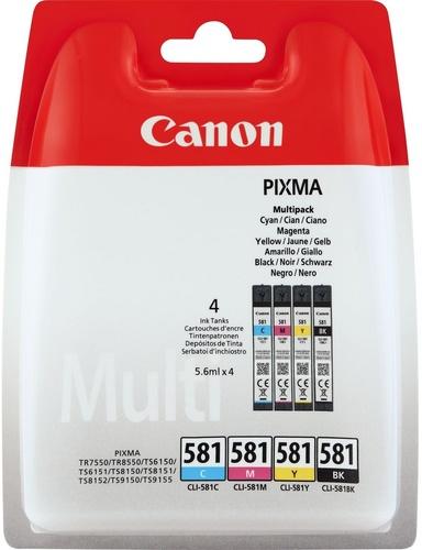 Canon CLI-581 Multipack, TPA fotoschwarz, cyan, magenta, yellow