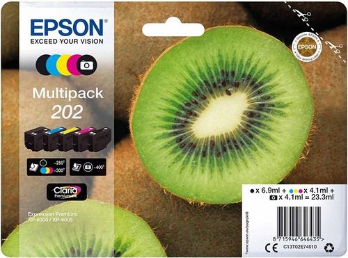 Epson 202 Multipack, TPA schwarz, cyan, magenta, yellow, fotoschwarz