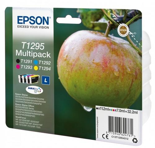 Epson T1295 Multipack, TPA schwarz, cyan, magenta und yellow