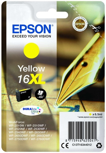 Epson 16XL, TPA yellow, 6.5ml, 450s