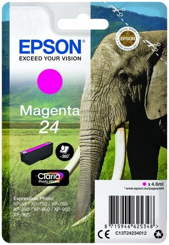 Epson 24, cartouche d'encre magenta, 360 pages, 4.6ml