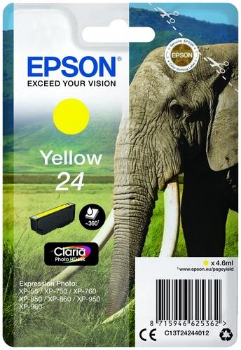 Epson 24, cartouche d'encre jaune, 360 pages, 4.6ml