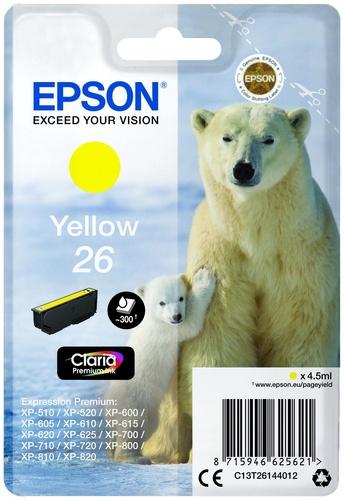 Epson 26, TPA yellow, 300 Seiten, 4.5ml