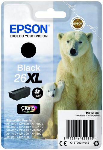 Epson 26XL, TPA schwarz, 500 Seiten, 12.2ml