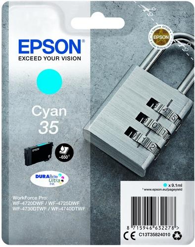 Epson 35, cartouche d'encre cyan, 9.1ml