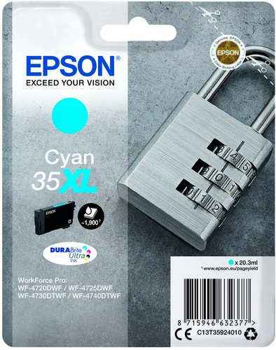 Epson 35XL, TPA cyan, 20.3ml