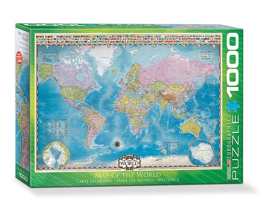 Map of the World - Puzzle [1000 Teile] - Thali
