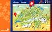 Cartina ilustrata dell svizzera [70 Pezzi]