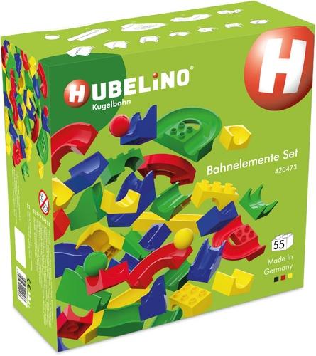 Ball piste Hubelino : Jeu d'éléments de rails à 55 pièces